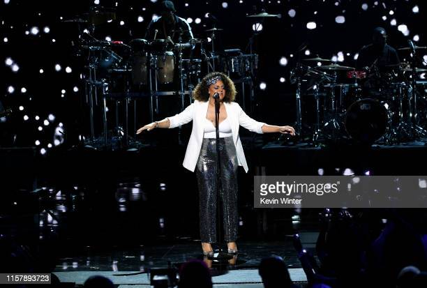 Marsha Ambrosius performs onstage at the 2019 BET Awards on June 23, 2019 in Los Angeles, California.