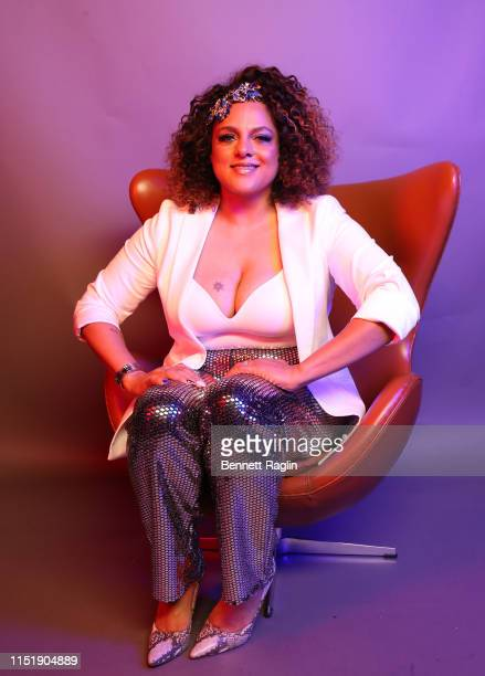 Marsha Ambrosius poses for a portrait during the BET Awards 2019 at Microsoft Theater on June 23 2019 in Los Angeles California