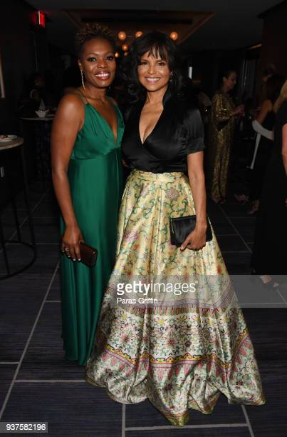 Marsha Archer and actress Victoria Rowell attend Carrie SteelePitts Home 130th Anniversary Gala at Four Seasons Hotel on March 24 2018 in Atlanta...