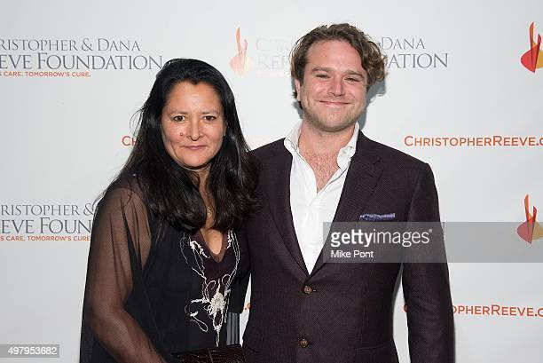Marsha Garces and Zachary Pym Williams attend The Christopher and Dana Reeve Foundation's A Magical Evening Gala at Cipriani Wall Street on November...