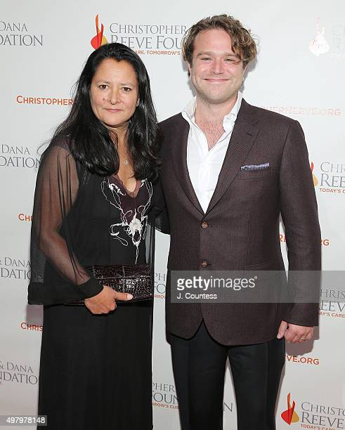 Marsha Garces and Zachary Pym Williams attend The Christopher And Dana Reeve Foundation's 'A Magical Evening' Gala at Cipriani Wall Street on...