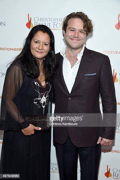 Marsha Garces and Zachary Pym Williams attend The Christopher Dana Reeve Foundation 25th Anniversary A Magical Evening Gala on November 19 2015 in...