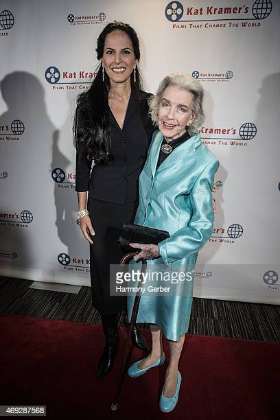 Marsha Hunt and Mariana Tosca attend the 7th Annual Annual Kat Kramer's Films That Change The World Screening Series at The Canon USA Inc Screening...