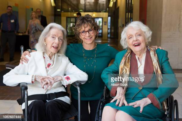 Marsha Hunt Gabrielle Carteris and Barbara Perry attend the Presentation Of Founders And Presidents Awards at SAGAFTRA Plaza on October 20 2018 in...