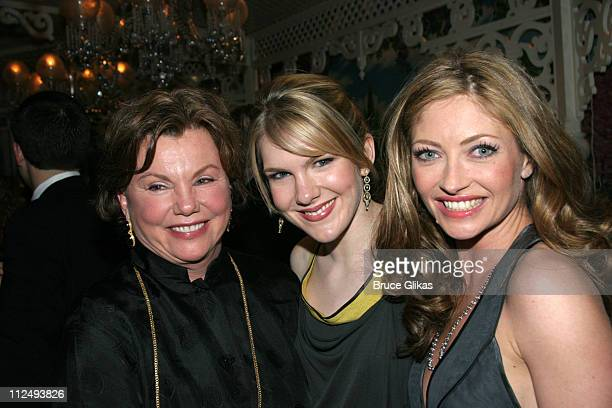 Marsha Mason Lily Rabe and Rebecca Gayheart during Steel Magnolias Opening Night on Broadway After Party Inside at Tavern on the Green in New York...