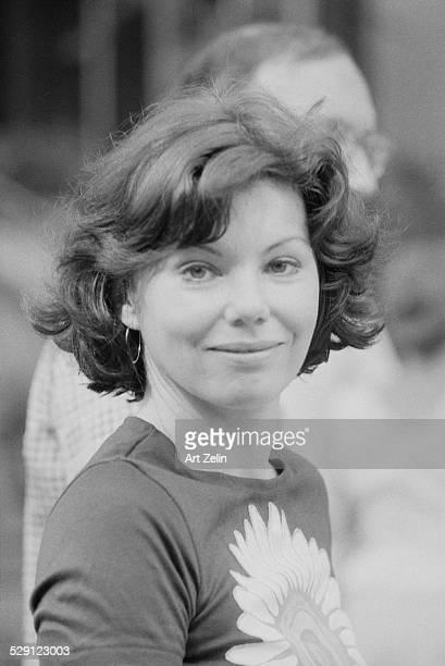 Marsha Mason wearing a t-shirt with a sunflower; circa 1970; New York.