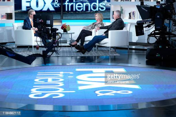 Marsha Mueller and Carl Mueller parents of hostage Kayla Mueller who was slain by ISIS visit Fox Friends at Fox News Channel Studios on October 31...
