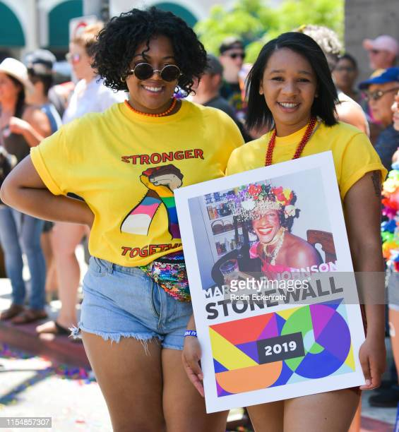 Marsha P Johnson sign at LA Pride 2019 on June 07 2019 in West Hollywood California