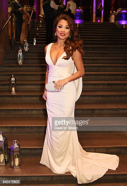 Marsha Songcome attends the press night after party for Disney's 'Aladdin' at The National Gallery on June 15 2016 in London England