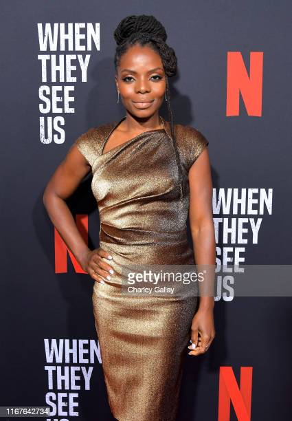 Marsha Stephanie Blake attends Netflix's When They See Us Screening Reception at Paramount Theater on the Paramount Studios lot on August 11 2019 in...