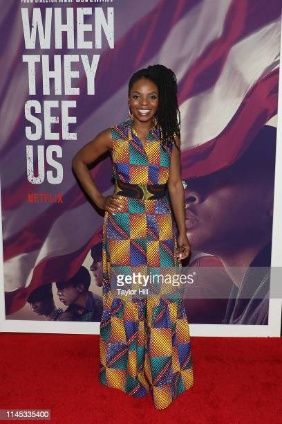 Marsha Stephanie Blake attends the premiere of When They See Us at The Apollo Theater on May 20 2019 in New York City