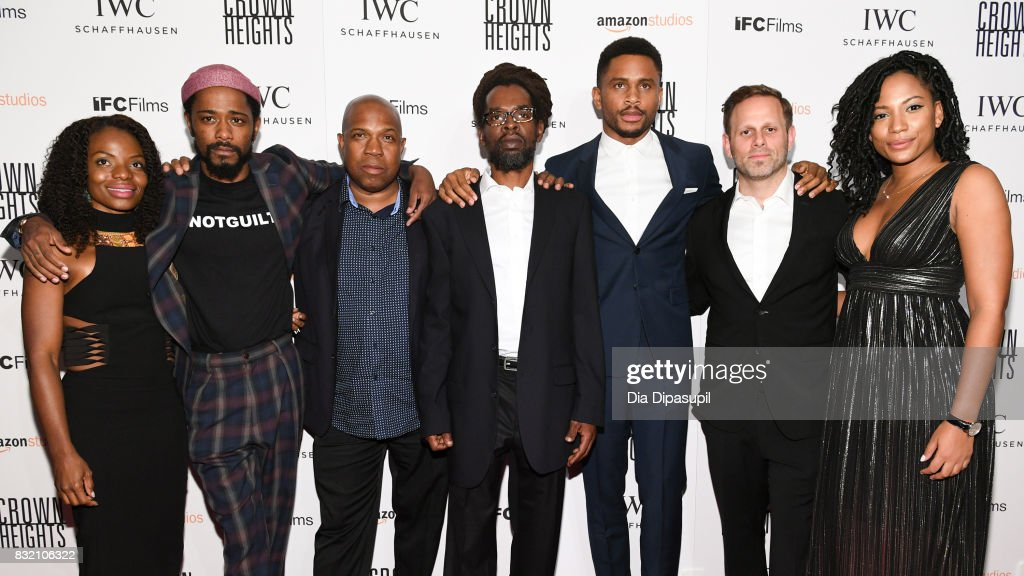 Marsha Stephanie Blake, Lakeith Stanfield, Carl King, Colin Warner, Nnamdi Asomugha, Matt Ruskin, and Natalie Paul attend the 'Crown Heights' New York premiere at Metrograph on August 15, 2017 in New York City.