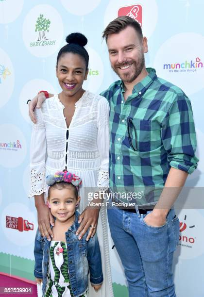 Marsha Thomason Craig Sykes and Tallulah Anaïs Sykes at Step 2 Presents 6th Annual Celebrity Red CARpet Safety Awareness Event on September 23 2017...