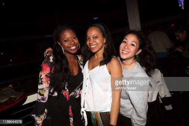 Marsha Thompson Stage/Understudy Bar Events Director Lisa Lindo and Patty Kan attend the Dungeon Family reunion concert at Terminal 5 on April 23...