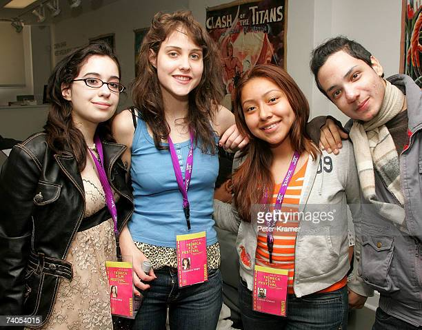 Marsha Vellez Alexandra Singer Lil Beth Chauca and guest attend the youth filmmaker party held at the Kyle Kaufmann Gallery during the 2007 Tribeca...