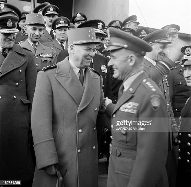 Marshal Alphonse Juin With Generals Montgomery And Gruenther