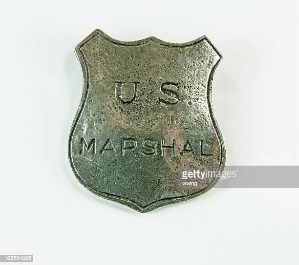 Marshal Badge on White