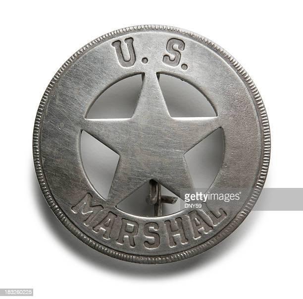 eua. crachá de marshal - distintivo de polícia - fotografias e filmes do acervo