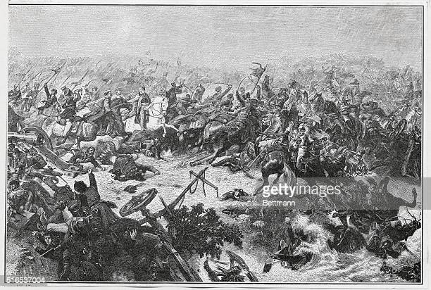 Marshal Blucher During Battle of Katzbach Napoleonic wars 1813