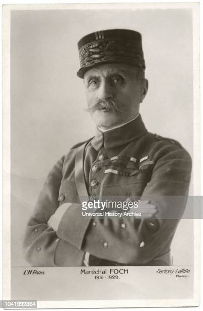 Marshal Ferdinand Foch 18511929 French General and World War I Hero Portrait early1920s