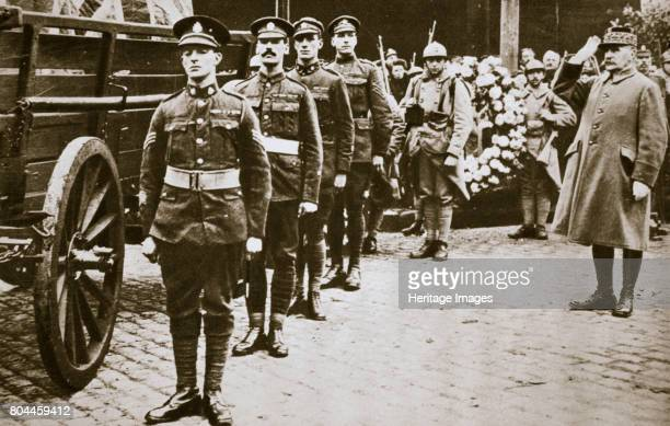 Marshal Foch French general saluting the British Unknown Soldier c1918c1920 Ferdinand Foch was chosen as supreme commander of the Allied armies on 26...
