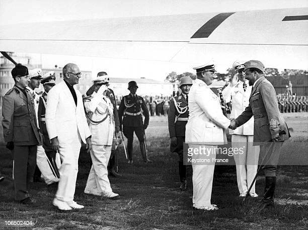 Marshal Goering Welcoming Marshal Italo Balbo On The Left Ambassador Attolico In Germany 1938
