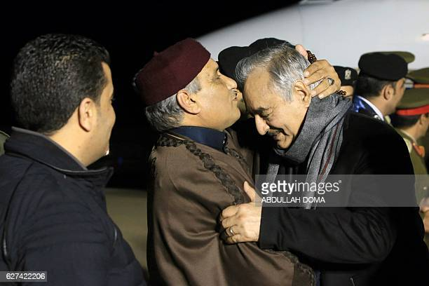CORRECTION Marshal Khalifa Haftar the military leader of the socalled Libyan National Army and Libyas parallel parliament based in the eastern city...