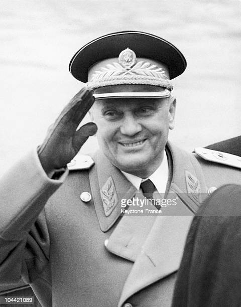 Marshal Tito The Governmental Leader And Dictator Of Yugoslavia Waving Goodbye To English Diplomats On March 21 Upon His Departure From Great Britian...