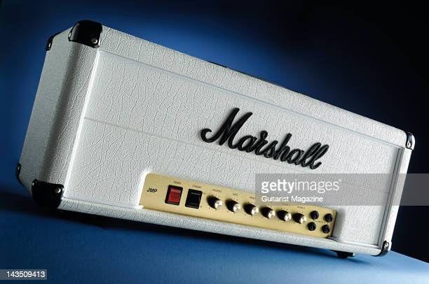 A Marshall 1959RR electric guitar amplifier head unit dedicated to the memory of Randy Rhoads during a studio shoot for Guitarist Magazine February 7...