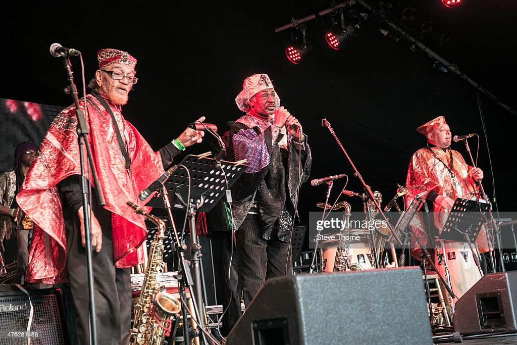 Marshall Allen and The Sun Ra Arkestra perform at the Lunar Festival on June 7, 2015 in Tanworth-in-Arden, United Kingdom
