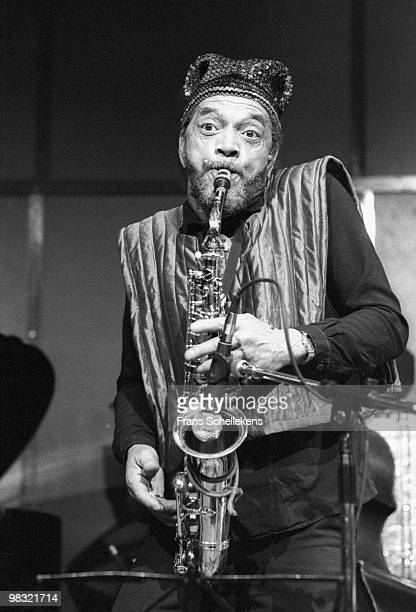 Marshall Allen from Sun Ra Arkestra performs live on Alto Sax at Bimhuis in Amsterdam, Netherlands on November 07 1985