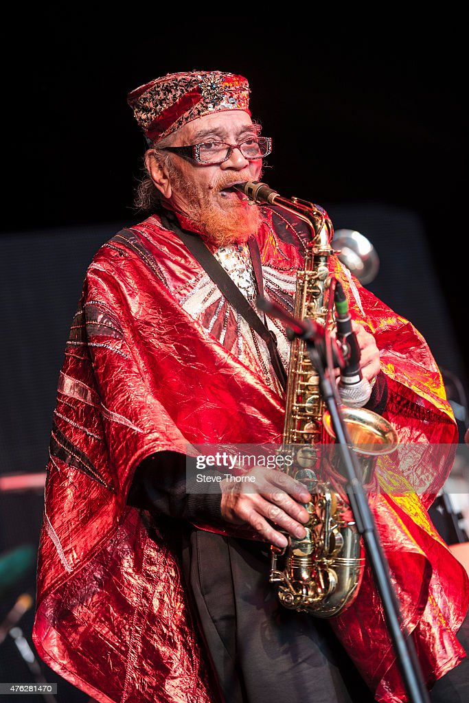 Marshall Allen of The Sun Ra Arkestra performs at the Lunar Festival on June 7, 2015 in Tanworth-in-Arden, United Kingdom