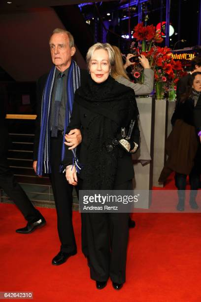 Marshall Bell and Milena Canonero arrive for the closing ceremony of the 67th Berlinale International Film Festival Berlin at Berlinale Palace on...