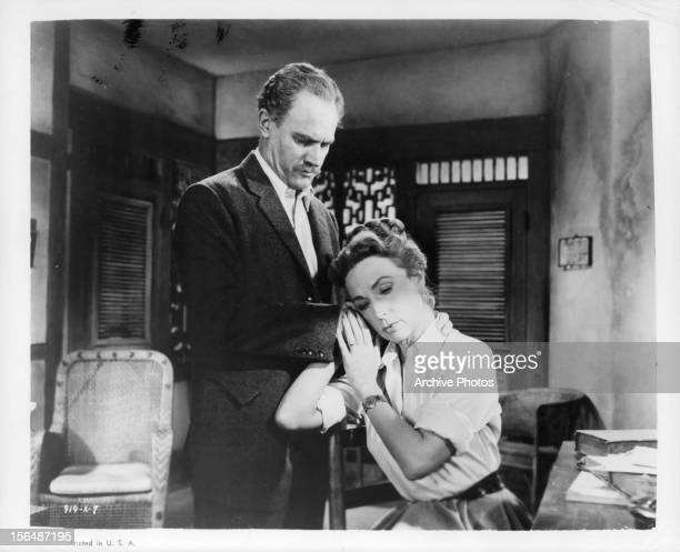 EG Marshall consoles Agnes Moorehead in a scene from the film 'The Left Hand Of God' 1955