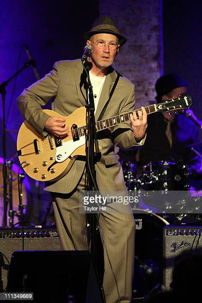 Marshall Crenshaw performs during the Bridge To Japan Earthquake Tsunami Relief Benefit at City Winery on March 31 2011 in New York City