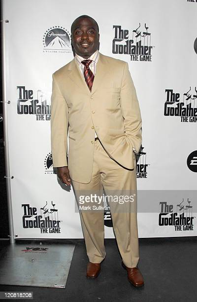 Marshall Faulk during World Premiere of 'The Godfather the Game' on XBOX 360 Arrivals at Stone Rose Lounge in Los Angeles California United States