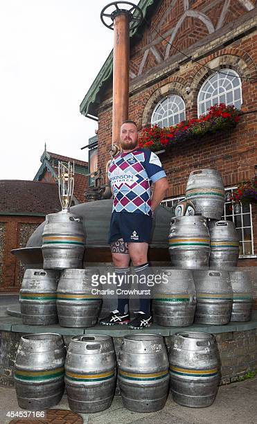 Marshall Gadd of Rotherham Titans poses for a photo during the 2014/15 Greene King IPA Championship Captains photocall at Greene King IPA brewery on...
