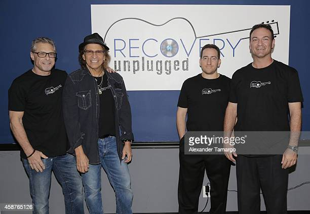 Marshall Geisser Richie Supa Andrew Sossin and Paul Pellinger are seen at Recovery Unplugged on November 10 2014 in Fort Lauderdale Florida
