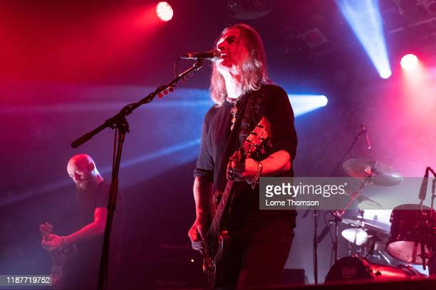 Marshall Gill and Justin Sullivan of New Model Army perform at Electric Ballroom on November 14, 2019 in London, England.