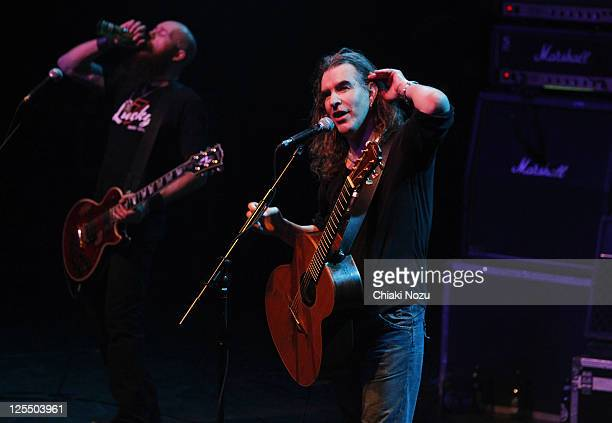 Marshall Gill and Justin Sullivan of New Model Army perform at The Forum on December 4, 2010 in London, England.