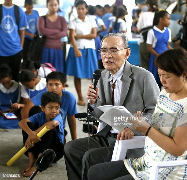 MAJURO Marshall Islands Former Japanese fisherman Matashichi Oishi speaks of his exposure to nuclear fallout from the 1954 US Hbomb test on Bikini...