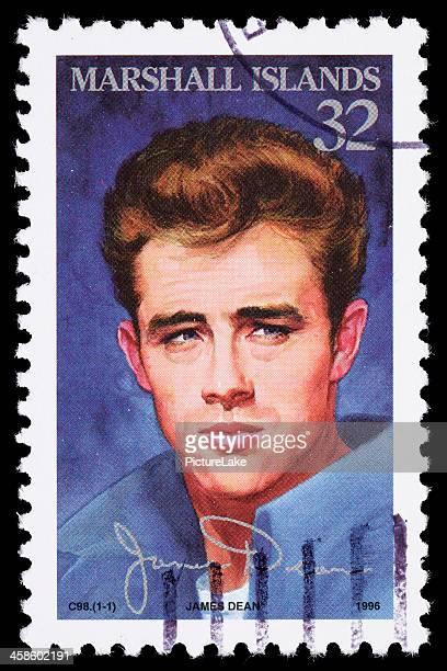 islas marshall james dean sello postal - james dean fotografías e imágenes de stock