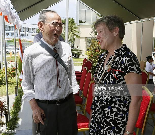 Marshall Islands - Matashichi Oishi , a former crew member of the Japanese fishing boat Fukuryu Maru No. 5 that was contaminated by the nuclear...