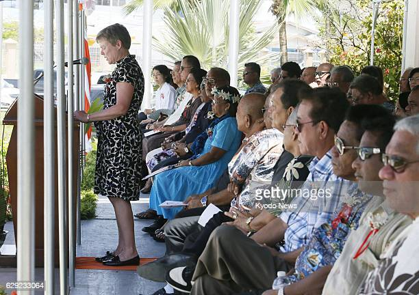 MAJURO Marshall Islands Rose Gottemoeller acting US undersecretary of state for arms control and international security delivers a speech during a...