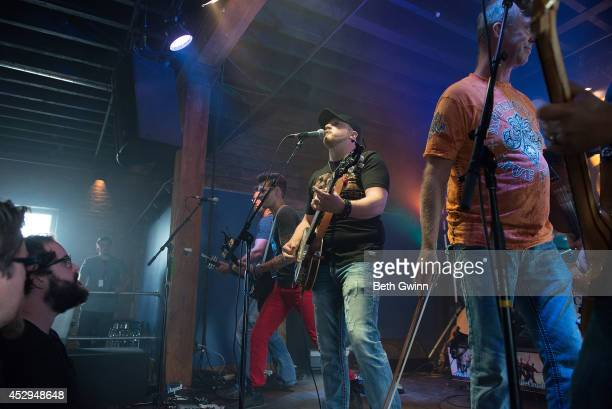 Marshall Miller, Brad Wright, and Mike Wright performs at the Nashville Crush showcase at The High Watt on July 30, 2014 in Nashville, Tennessee.