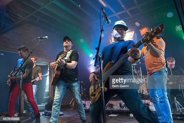 Marshall Miller, Brad Wright, Dean Maag, and Mike Wright perform at the Nashville Crush showcase at The High Watt on July 30, 2014 in Nashville,...