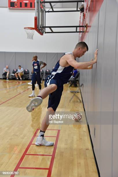 Marshall Plumlee of Team USA warms up during practice at the University of Houston on June 23 2018 in Houston Texas NOTE TO USER User expressly...