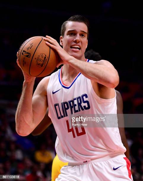 Marshall Plumlee of the LA Clippers grabs a rebound during a 111104 Los Angeles Lakers win at Staples Center on October 10 2017 in Los Angeles...