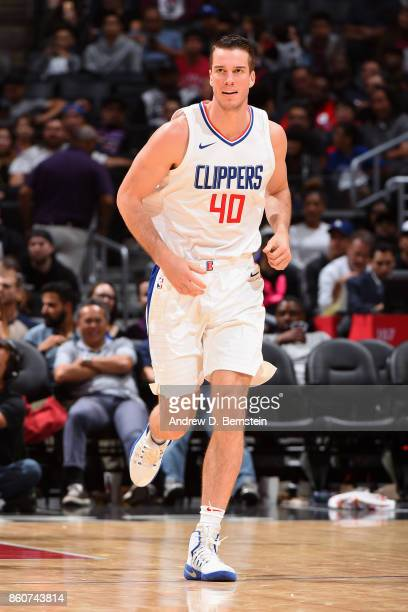 Marshall Plumlee of the LA Clippers looks on during the game against the Sacramento Kings on October 12 2017 at STAPLES Center in Los Angeles...