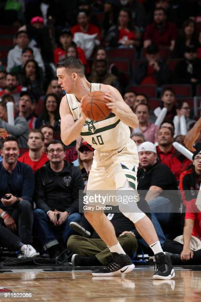 Marshall Plumlee of the Milwaukee Bucks handles the ball against the Chicago Bulls on January 28 2018 at the United Center in Chicago Illinois NOTE...